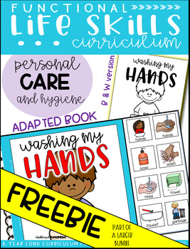 Washing My Hands Adapted Book FREEBIE {Functional Life Skills Curriculum}