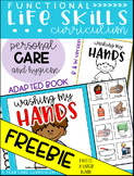 Washing My Hands Adapted Book FREEBIE {Functional Life Ski