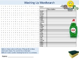 Washing Up Wordsearch Sheet Starter Activity Keywords Food Nutrition