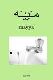 Arabic/English Vocabulary Cards - Washing Up (Egyptian conversational Arabic)