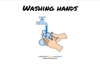 Washing Your Hands - A Social Story in English and Spanish