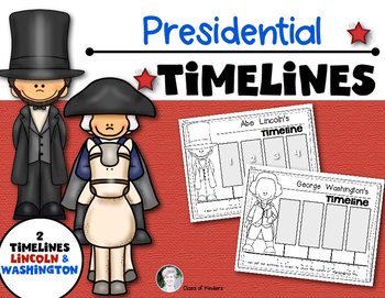 Washington and Lincoln Timelines {Presidents} for Kindergarten and First Grade