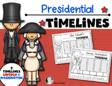 Washington and Lincoln Timelines {Presidents} for Kinderga