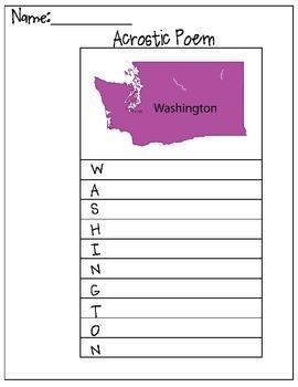 Washington Acrostic Poem