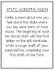 Washington State Acrostic Poem Template, Project, Activity, Worksheet