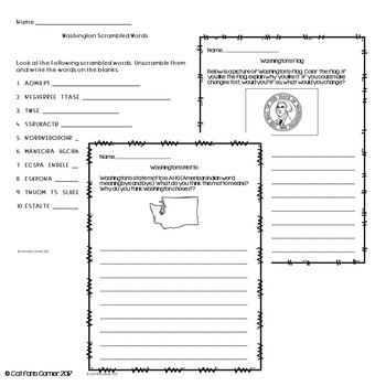 Washington Activity Packet