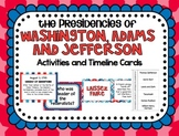 Washington, Adams and Jefferson Activities