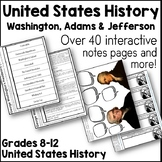 Washington, Adams, and Jefferson Interactive Note Pages and more!