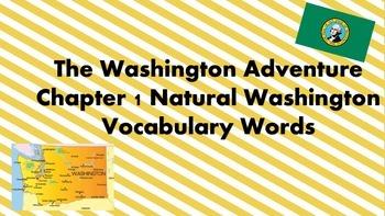 The Washington Adventure Chapter 1 Vocabulary Words