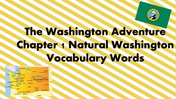 The Washington Adventure Chapter 1 Vocabulary Words