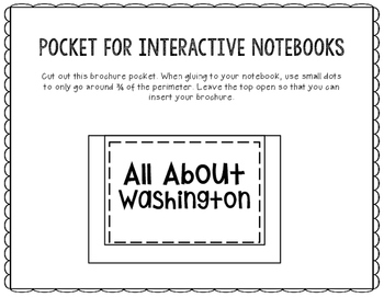 Washington - State Research Project - Interactive Notebook - Mini Book
