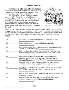 Washington, D.C., AMERICAN GOVERNMENT LESSON 74 of 105, Activity+Quiz
