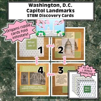 Washington, D.C. Capital Landmarks STEM Discovery Cards Kit