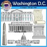 Washington D.C. Clip Art (Capitol Building, Washington Mon