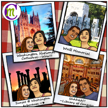 Washington D.C. Clipart USA Travel Color CM