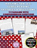 Washington, D.C. Close Reading Passages {Digital & PDF Included}