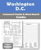 Washington D.C. Crossword Puzzle and Word Search Combo