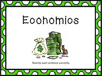 Economics    Facts Flash Cards