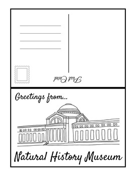 Washington D.C.Landmark Fill In POSTCARDS (BW & COLOR)