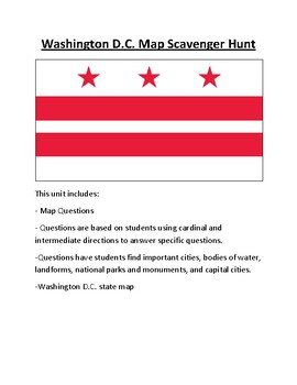 Washington D.C. Map Scavenger Hunt
