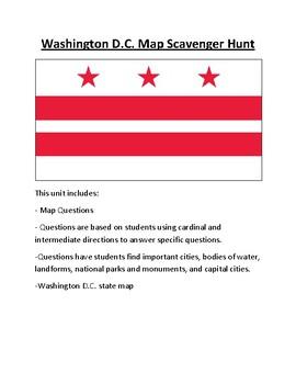Washington D.C. Map Scavenger Hunt