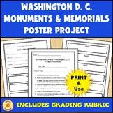 Washington, D. C. Monuments & Memorial Research & Poster Activity