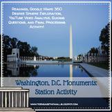 Washington, D.C. Monuments Station Activity