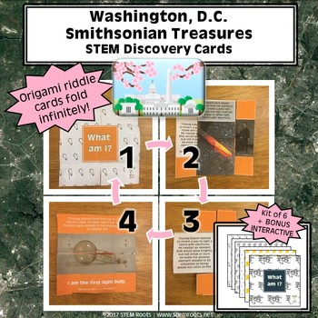 Washington, D.C. Smithsonian Treasures STEM Discovery Cards Kit