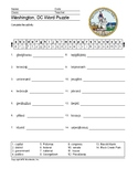 Washington, D.C. Word Search and Vocabulary Worksheet Printables