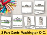 Washington DC 3 Part Cards (English) Montessori ワシントンDC絵カー