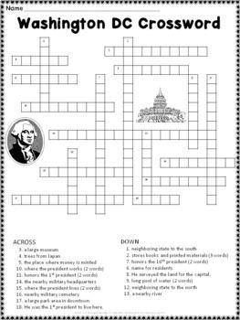 Washington DC Crossword Puzzle