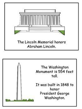 Washington, D.C. Emergent Reader Flip Book
