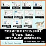 Washington DC History Bundle - History, Fun Facts, Colorin