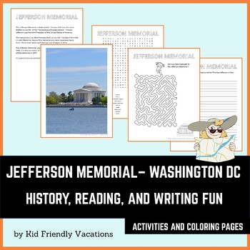 Washington DC - Jefferson Memorial - History, Facts, Coloring Page, and Puzzles