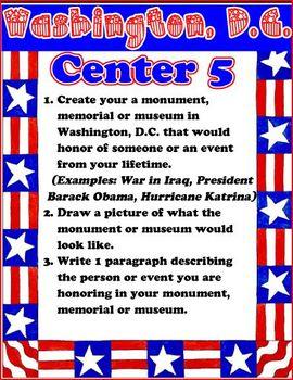Washington D.C. Learning Center / File Folder Activities