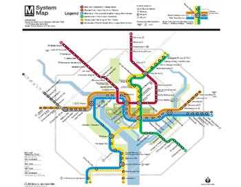 Washington DC Metro Map Geometry and Challenge Worksheet