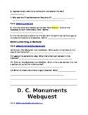 Washington D.C. Monumental Web Quest