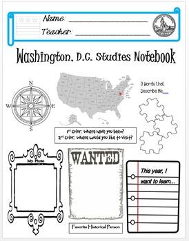 Washington DC Notebook Cover