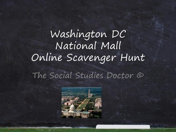 Washington DC Online Scavenger Hunt (Webquest)