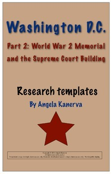 Washington D.C. Part 2 Research Poster WW2 and Supreme Court Building