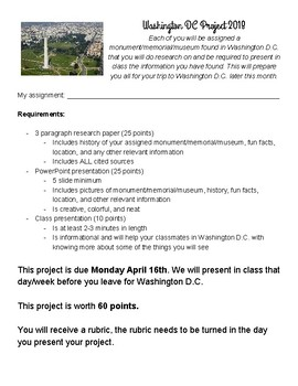 Washington DC Project