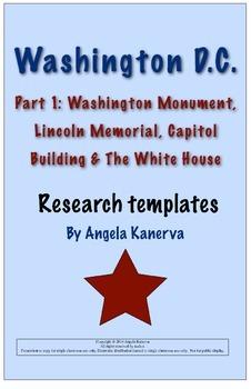 Washington DC White House, Capitol Building, Lincoln Memorial & Washington Monum