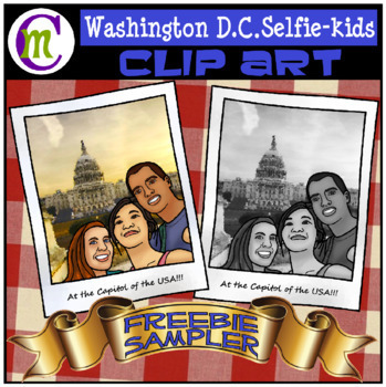 Washington DC Selfie Teens Sampler | May 2017 Clip Artists Collaborative FREEBIE