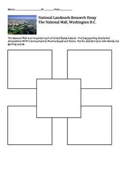Washington, DC and United States National Landmark Research Paper Project
