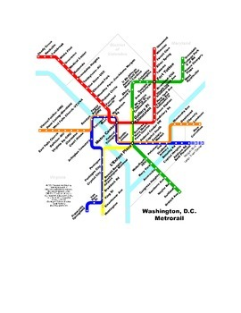 Washington, D.C. scavenger hunt using Google Earth/Maps