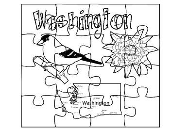 Washington Facts Puzzle Set