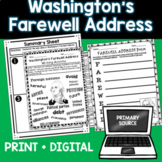 Washington Farewell Address - Close Reading, Writing Assig