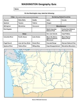 Washington Geography Quiz