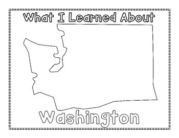 Washington Graphic Organizers (Perfect for KWL charts and geography!)