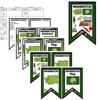 Washington History Word Wall, State Profile, Activity Pages